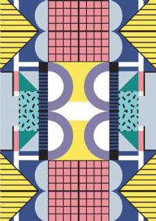 彩色几何格纹背景设计