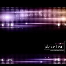 紫色圆点光效背景矢量素材图片