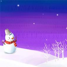 冬季卡通背景
