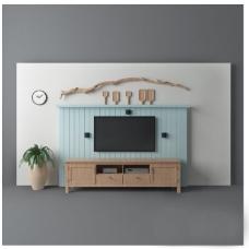 时尚复古电视墙
