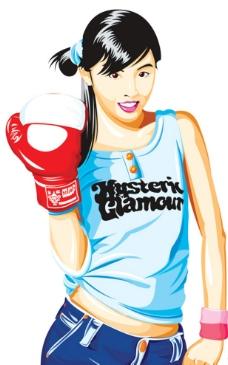 拳击韩国卡通图片