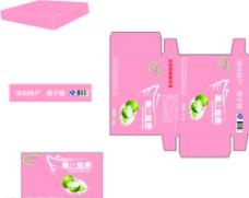 椰子糖包装平面图图片