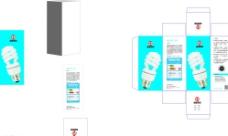 节能灯包装平面图图片
