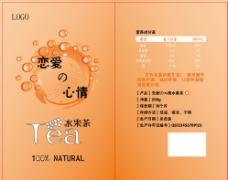 水果茶包装贴图片