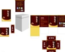 茶叶包装平面图图片