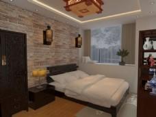 中式卧室(砖块)
