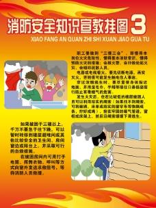 消防安全知识宣传挂图展板图片psd