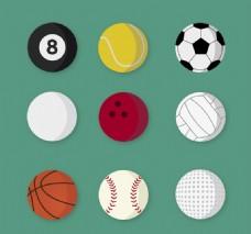 9款精美球具设计矢量素材