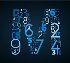 创意数字字母M