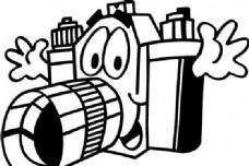 拟人照相机 矢量素材 EPS格式_0023