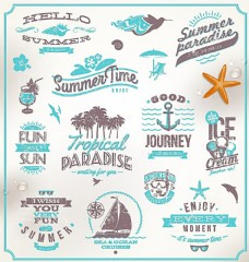 夏天图标海报