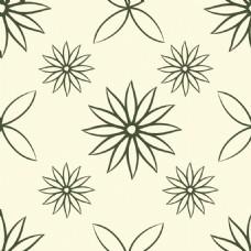 简约线条花朵背景
