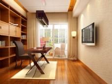 家居书房模型