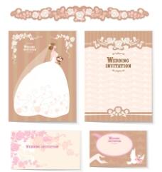 浪漫婚礼卡片矢量素材图片