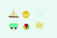 夏日玩耍标签图片