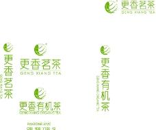 更香茗茶LOGO设计图标茶叶包装图标SY