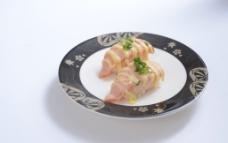 酱汁三文鱼寿司图片