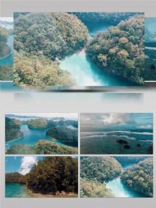 锡亚高岛菲律宾海边跳水实拍