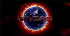 多色调日食电影标志展示模板