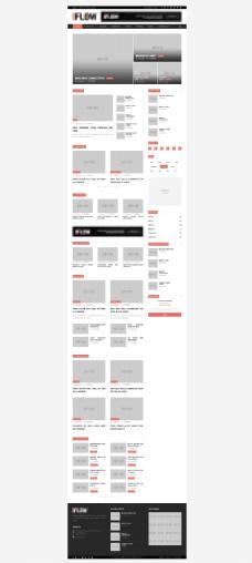 国外精美的资讯新闻网站模板首页