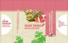 红肉柚子包装设计psd素材下载