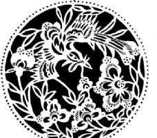 凤凰 凤纹图案 鸟类装饰图案 矢量素材 CDR格式_0059
