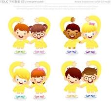 漫画儿童 卡通儿童 矢量 AI格式_0964