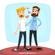 对同性恋的插图