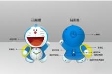 哆啦A梦闹钟 机器猫 蓝图片
