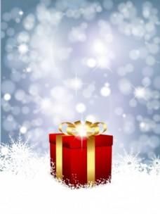 红色圣诞礼品背景