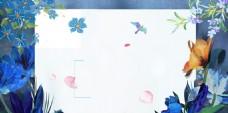 春暖花开春季促销海报背景设计