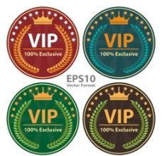 圆形VIP标签图片