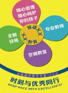 教育 宣传单彩页 招生海报图片