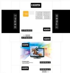 HDMI高清数据线黑包装飞机盒图片