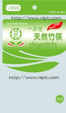 一次性竹筷 简包50双 包装图片