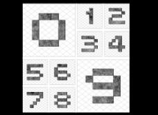 复古数字字体图片
