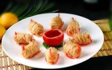 金丝凤尾虾图片