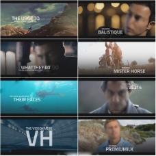 震撼大气的动作电影标题片头AE工程