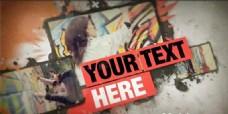 涂鸦包装展示动画AE模板