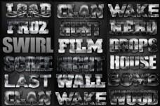 颓废风格电影主题字体设计PS样式V7