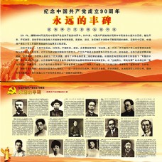 纪念中国共产党成立90周年图片展板