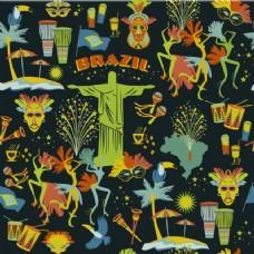 多彩风格的巴西图案