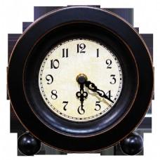 手绘一个古董钟png透明素材