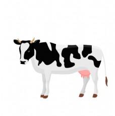 黑白花纹奶牛