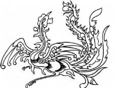 凤凰 凤纹图案 鸟类装饰图案 矢量素材 CDR格式_0065