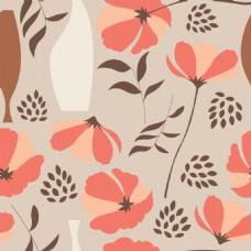 美丽花卉背景图案