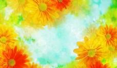 梦幻花卉背景