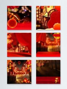 喜庆中国风春节节日主图背景