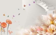 花开富贵牡丹蝴蝶