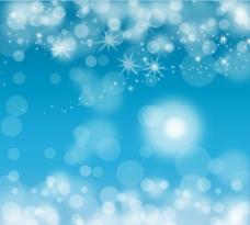 梦幻蓝色光晕背景设计矢量素材图片